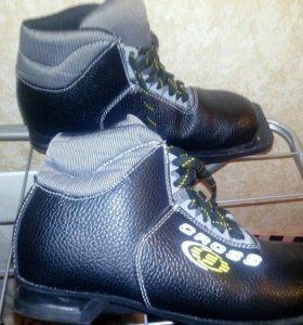Лыжи spine 180, палки 120, ботинки размер 38