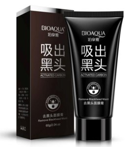 Черная маска с активированным углем Bioaqua
