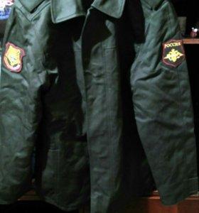 Военное пальто тёплое
