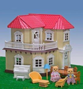 Уютный домик Happy Family с семьёй котиков 🏡