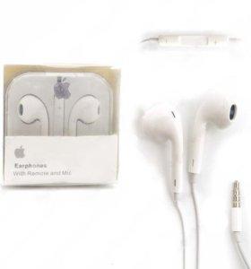 Наушники для Apple iPhone EarPhones с микрофоном