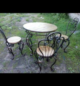 Дачный стол с стулями