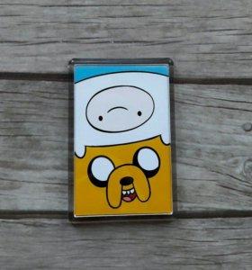 Магнит Adventure time/время приключений