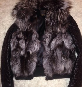 Натуральная тёплая куртка мехавушка