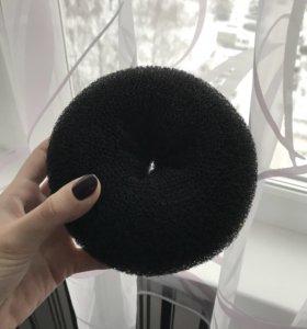 Бублик для волос чёрный