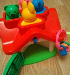 Сортер. Логический домик. Развивающая игрушка.