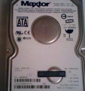 Продам жесткий диск 200 гб рабочий