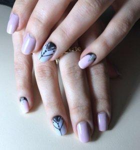 Наращивание ногтей и гель-лак🎀