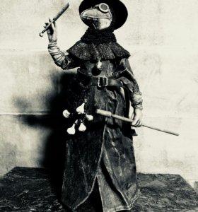 """Кукла ручной работы """"Чумной доктор"""" (размер 29 см)"""