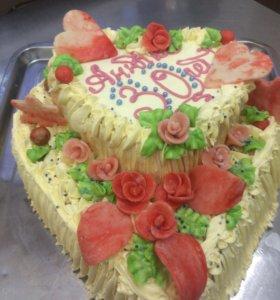 Праздничный торт .
