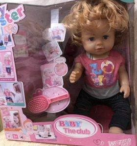 Интерактивная кукла, сестра Baby Born, звуки