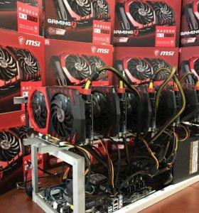 Майнинг Фермы GTX 1070, 1080,1080TI, RX 570,RX 580