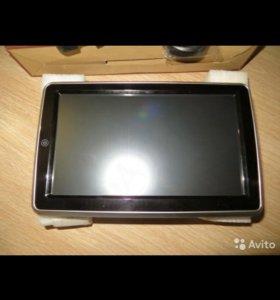 Навесной монитор на подголовник со встроенным DVD