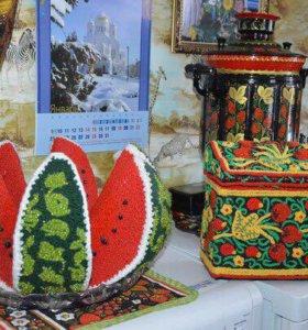 Рукодельные фрукты на заказ