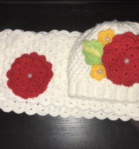 Новая шапка и шарф для девочек