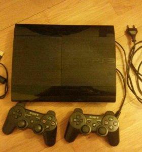 PS3 super slim с дисками