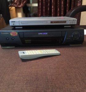Видеомагнитофон,Panasonic, dvd-bbk