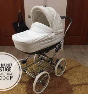 Детская коляска Roan Marita 2в1 Prestige ЭКО-кожа