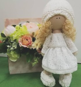 "Интерьерная куколка ""Белый ангел"""