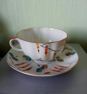 Чайная пара СССР ЛФЗ Ольха