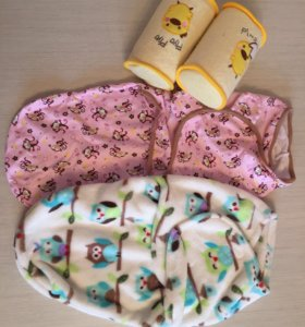 Пеленки на липучках и спальный мешок