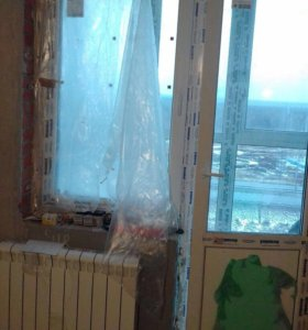 Стеклопакет пластиковый с балконной дверью