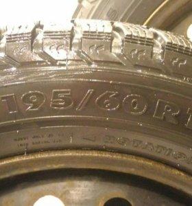 Зимняя резина на штамповках R16(2 шт)