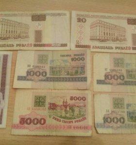 Банкноты Беларусии по 60.