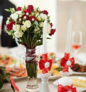 Свечи семейный очаг Свадьба
