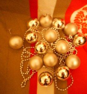 новогодние украшения: шары, герлянды. цена все
