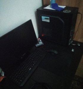 Компьютер в комплекте с монитором мышью и