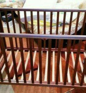 Кроватка детская Papaloni с матрасом