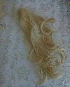 Хвост накладной блондинки