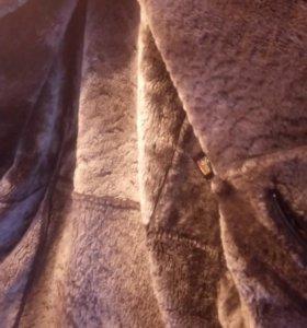 Мужская натуральная дублёнка размер 58-60