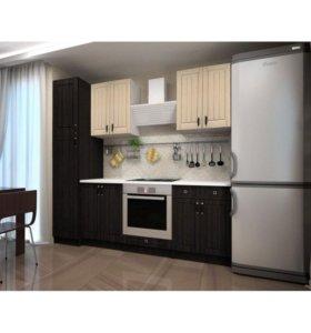 Кухня с пеналом 1,8 модульная №2 (Венге/Белфорт)