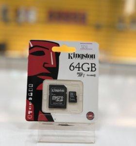 Карта памяти microSD 64GB Kingston