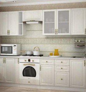 Кухня угловая Юлия МДФ 1,15х2,05 (Белый сандал)