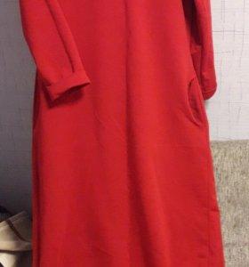 Красное платье в пол демисезон