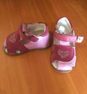 Сандалии детские для девочки Котофей, 19 размер