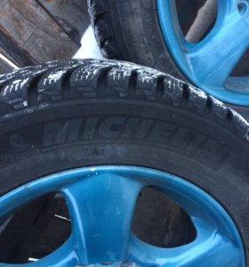 Продам зимние колёса мишлен шип, литьё