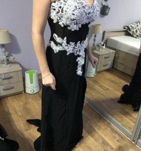 Шикарное вечернее платье,новое! На пышную грудь)