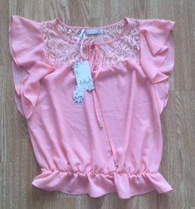 Блуза новая с кружевом ❤️