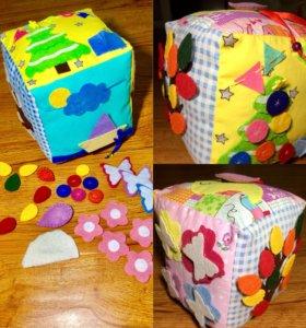 Мягкий развивающий кубик