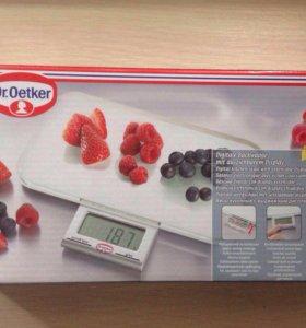 Весы электронные кухонные новые