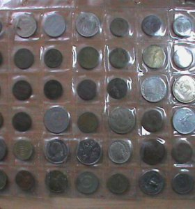 монеты зарубежка 48 шт