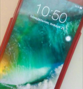 Iphone 7+red новый+4D стекло