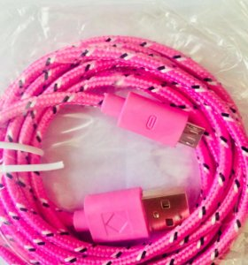 длинная Зарядка андроид шнур кабель micro USB