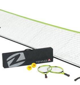 Складной комплект для игры в большой/пляжный тенни
