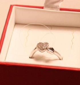 Серебряное кольцо с бриллиантами sunlight