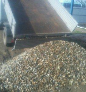 Щебень песок гпс отсев 2-3 куба